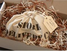 Stork delivery package pregnancy announcement