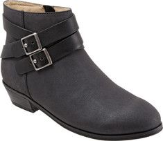 Women's+SoftWalk+Rancho+Boot+-+Graphite+Distressed+Nubuck/Nappa+Soft+Leather+with+FREE+Shipping+&+Exchanges.+The+Rancho+boot+offers+your+casual+attire+an+effortlessly+suave+complement+