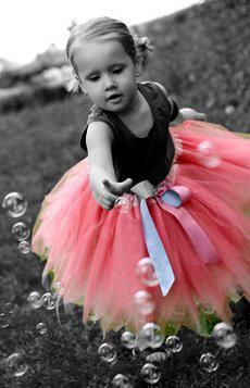 """color """"splash"""" / playing with bubbles in my tutu... / cuteness"""