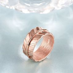 Classic Rose Gold Plated Geometric Cubic Zirconia Ring for Women GPR1228 4