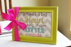 A Little Knick Knack: End of Year Teacher Gifts. Buy frame and add Uppercase Living expressions. Cute Teacher Gifts, Cute Gifts, Teacher Stuff, Teacher Presents, Teacher Treats, School Teacher, Craft Gifts, Diy Gifts, School Gifts