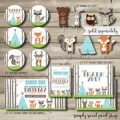 Woodland Animal poco bicho cumpleaños por SimplySweetPrintShop