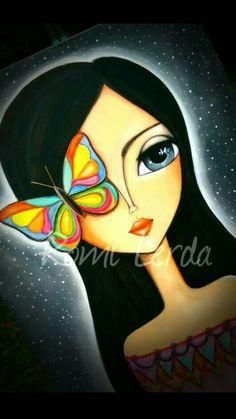 Art Drawings For Kids, Hippie Art, Arte Popular, Dot Painting, Whimsical Art, Face Art, Indian Art, Art Sketches, Art Girl