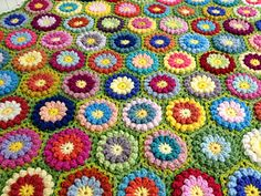 Bobbly Flower Hexagon by Mad Blanketer Bobbly Flower Hexagon was inspired by and designed after a vintage afghan. The pattern creates thick/dense block suitable for afghans, blankets, cushion covers, trivets and etc. You can use as many or few colors as you like. Possibilities are endless and hope you'll enjoy making them as much as I do!