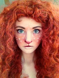 I can't find a Facebook page for daisydaisydoom but her Merida/faun makeup is one of the best I've ever seen. Isn't she fantastic? Disney and fantasy collide! Photographer: None credited Do you like it?