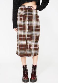 Motel Kaisa Plaid Skirt | Dolls Kill Plaid Skirts, White Skirts, Denim Skirt, Satin Skirt, Pleated Skirt, Midi Skirt, Fringe Skirt, Plaid Pattern, Streetwear Fashion