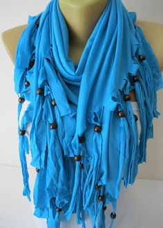 Blue Scarf-Cotton Scarf Shawls-Scarves-gift Ideas For Her