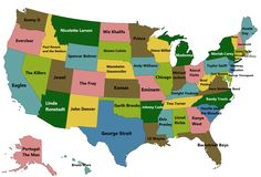Best selling music artists from each US state.