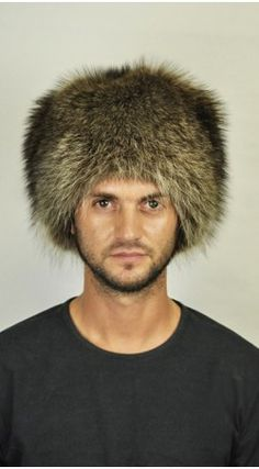 90e9c88473a Get ready for an outdoor  adventure with this  raccoon fur hat. A classic