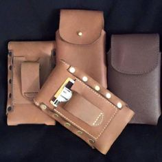 HANDMADE LEATHER PHONE CASE & WALLET Amish Made Belt Holster iPHONE 6 Plus Galaxy LG USA