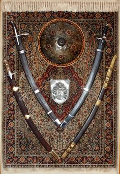 Polskie szable husarskie - Polish hussar sabers Military Weapons, Weapons Guns, Olgierd Von Everec, Saber Sword, Damascus Sword, Seven Years' War, Swords And Daggers, Arm Armor, Medieval Armor
