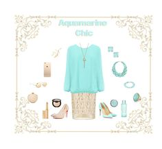 ♒  Aquamarine Chic ♒ by wearall on Polyvore featuring WearAll, N°21, Christian Louboutin, Love Moschino, Roberto Coin, Esenelle, Natasha Couture, Kate Spade, Linda Farrow and Wander Beauty
