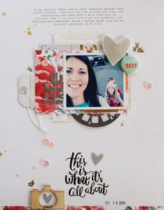 #Papercraft #Scrapbook #Layout.   Life. by Michelle Wedertz at @studio_calico