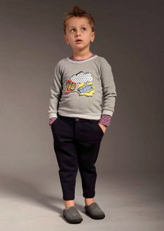Hilda Yim at Siaomimi references circuses in her fall 2014 collection without a single hot color or obvious motif; in other words, no clowns. For boys, super heroes are reduced to dialogue, with the Boom Sweatshirt and cozy, Double-Waisted Corduroy Pants. www.tinyginger.com (editor's pick)