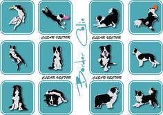 Border Collie, Dog Silhouettes, Dog Vector Art PNG EPS, svg, DXF, Illustrator, Dog Logo, Dog Wash https://www.etsy.com/in-en/shop/ArtDigitalDesigns