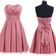 Charming Homecoming Dress,Satin Homecoming Dress