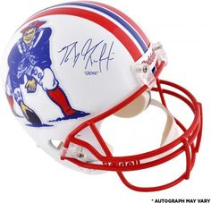 79e660544f6 Rob Gronkowski New England Patriots Autographed Throwback Replica Helmet  with Gronk Inscription