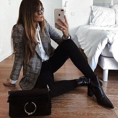 20 Amazing Plaid Outfits That Are Trendy This Season - Business Outfits for Work Trajes Business Casual, Business Casual Outfits, Professional Outfits, Business Attire, Office Outfits, Office Attire, Teenager Outfits, Casual Shirts, Work Attire