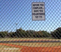 Best sign ever placed on the little league field.....EVER!