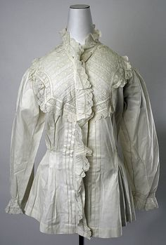 Dressing Gown  Date: 1880–81 Culture: American or European Medium: linen