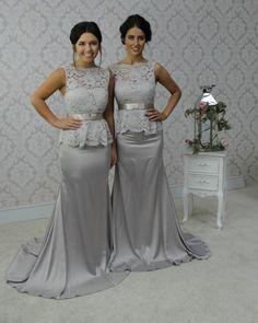 2015 Mermaid Bridesmaid Dresses Long Light Gray Backless Bridesmaid Dress