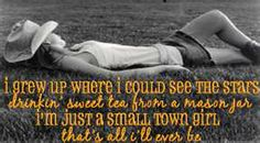 i'm just a small town girl ;)