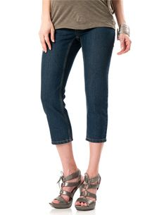 Denim capris are a must have for the spring/summer, even for a pregnant lady.