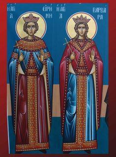 St. Irene & St. Barbara Saint A, Orthodox Icons, Byzantine, Angeles, Princess Zelda, Female, Fictional Characters, Art, Art Background