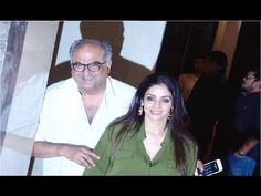 Sridevi with husband Boney Kapoor at the screening of MIRZYA movie.