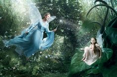 Julie Andrews as the Blue Fairy from Pinocchio and Abigail Breslin as her apprentice