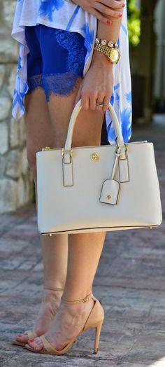 Savoir Faire Indigo Blue Lace Detail Lingerie Culotte Shorts