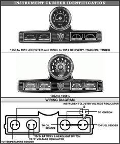 willys truck light switch wiring diagram google search 1950 willys jeepster engine
