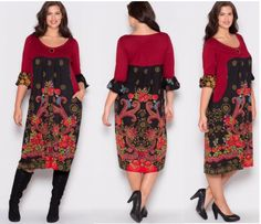 rochie bordo cu imprimeu Curvy Fashion, Fashion Women, 50th, Cold Shoulder Dress, Elegant, Dresses, Women's Work Fashion, Classy, Vestidos
