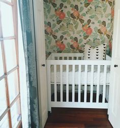 @babyletto on Instagram: nobody puts baby in the corner! ...but if you're short on space, a gorgeous closet and a #babyletto mini crib will do just fine!  | love your nursery nook @jnwilliams1