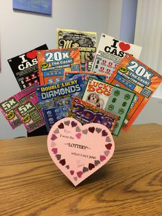 Valentine's Day gift for him or her Lottery ticket bouquet DIY