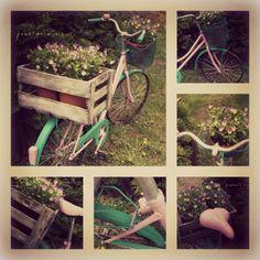 rowerowy kwietnik