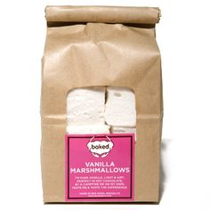 Baked NYC Marshmallows. Pair with good chocolate and graham crackers for a summer housewarming gifts to make adult s'mores.