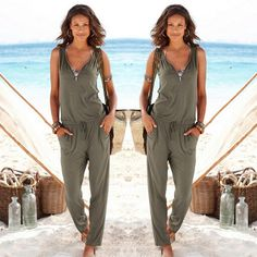 Sexy Sleeveless jumpsuit women long romper 2017 summer women lady Fashion trousers beach jumpsuit coveralls sexy female frock