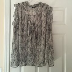 Chiffon button down tank Business casual tank. Not worn a lot and still in great condition. Shirt does not stretch a.n.a Tops Blouses