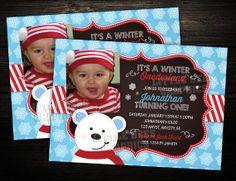 Winter ONEderland Polar Bear   First by LittleBeesGraphics on Etsy, $12.99