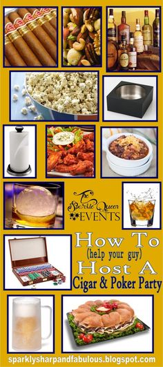 How To {help your guy} host a Cigar and Poker Party  - Ideas and Inspiration Board