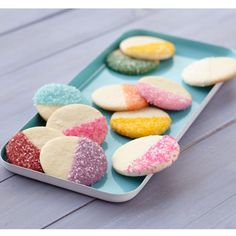 Two-Tone, Candy-Dipped Cookies