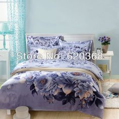 Aliexpress.com : Buy 100% Cotton  twill reactive printed bedding wedding bedding/comforter set/duvet cover set/sheets for bed/bedding set queen from Reliable bedding set queen suppliers on Yous Home Textile $75.00