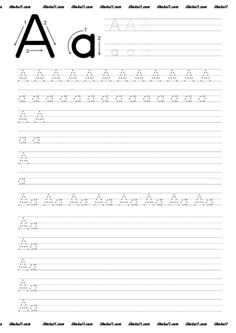 thumbnail of A – Buchstaben Lernen Fun Worksheets For Kids, English Worksheets For Kindergarten, Letter Worksheets For Preschool, Preschool Letters, Kindergarten Worksheets, Tracing Letters, Alphabet Worksheets, Alphabet Writing Practice, Writing Practice Worksheets