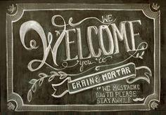 Chalkboard illustration done by me, Miranda Bouck, at Grain & Mortar // http://grainandmortar.com/chalkboard-illustration/