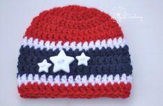 Crochet Hat Crochet July 4th Hats Newborn to Baby by LiyaDarling, $14.00