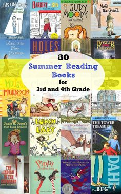 30 Awesome Chapter books for 3rd and 4th Grade! Great books to read during summer vacation or throughout the school year. They make great read aloud books, too!