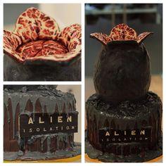 Facehugger egg cake Alien Cake, Funny Cake, Diy Cake, Nerd, Cake Creations, Geeks, 3d Cakes, Fondant Cakes, Alien Party