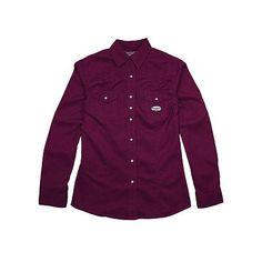 4cd5ade7dc49 Shirts 175630  Rasco Fr Women S Plum Work Shirt -  BUY IT NOW ONLY