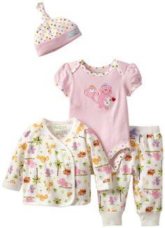 Happi by Dena Baby-Girls Newborn Jungle Friends 4 Piece Set - List price: $36.00 Price: $12.03